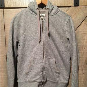 J. Crew Vintage Fleece Gray Full Zip Sz M Hoodie